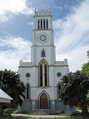 Catholic Church in Koinawa #Kiribati. #PacificIslands (by davros9): #SightSeeing #MustSee #Travel