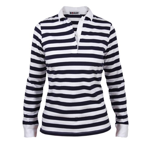 Long Sleeve Polo Women's Navy