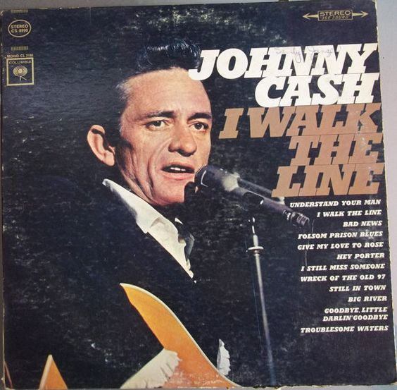 Vintage Vinyl  I Walk The Line Johnny Cashe by VintageCoolVinyl