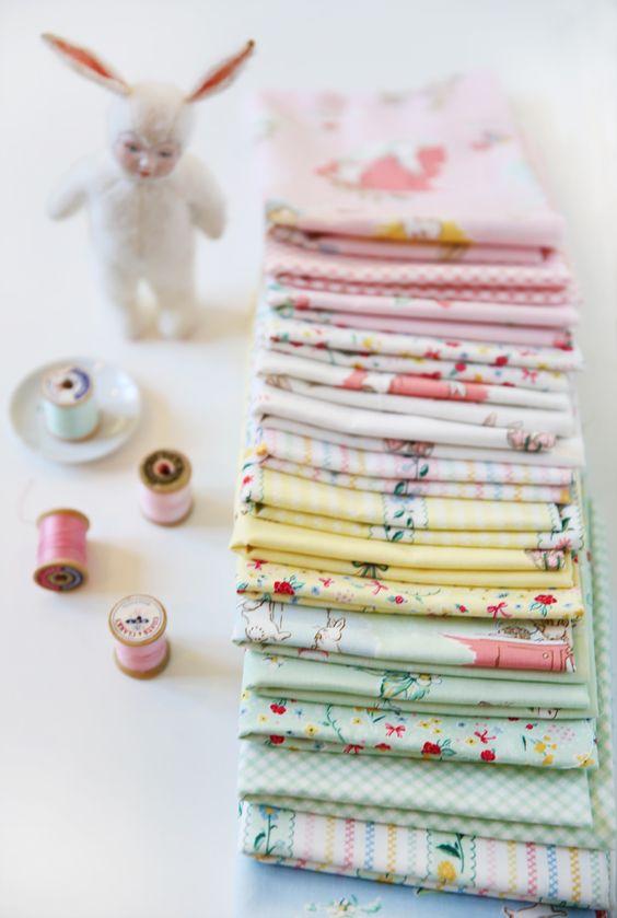 Bunnies & Cream by Lauren Nash @pennyrosefabric
