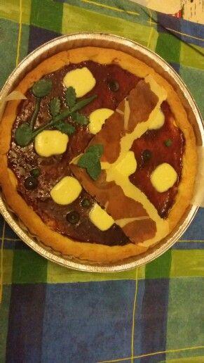 Crostata che si crede una pizza speck e rucola..