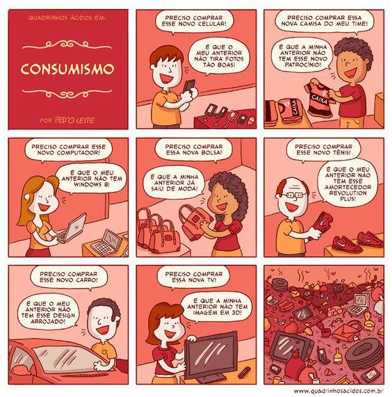 Será que você precisa mesmo? #tirinhas #quadrinhos #consumismo