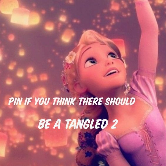 Pin if you think there should be a tangled 2 ... it should be about their child or something like that