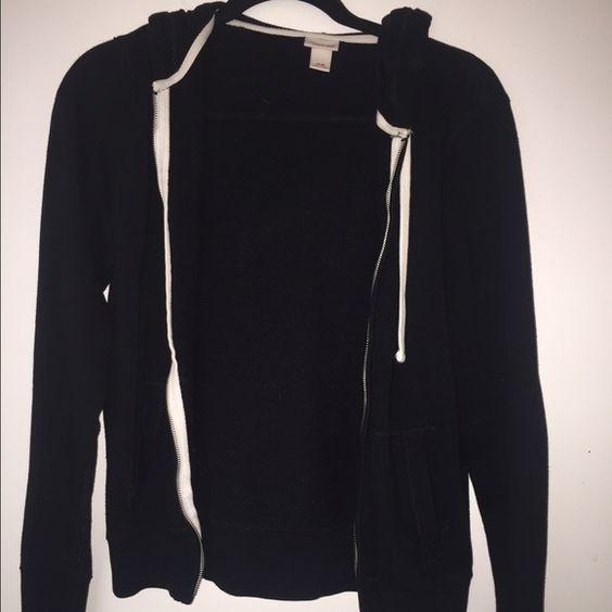 Black zip up hoodie Black zip up hoodie with white strings Target ...