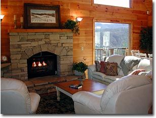 Inspiration Point Cabin has a beautiful stone fireplace with a gas logs.. Pigeon Forge is just a few minutes away.  Great Place to vacation !