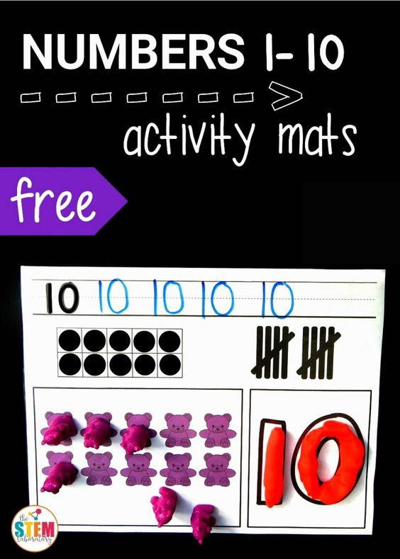 Free 1-10 number activity mats! Such a fun way to practice counting, tallying, number formation, ten frames... all at once.