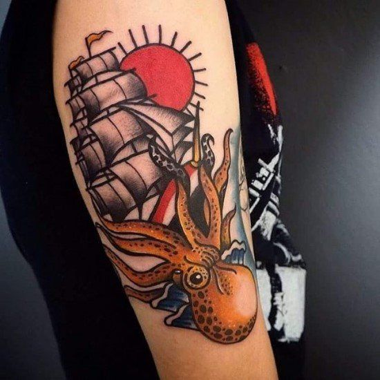 43 Encouraging American Traditional Tattoos Media Democracy American Traditional Tattoo Traditional Tattoo Best Sleeve Tattoos