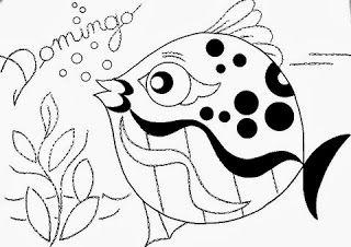 desenho semaninha do peixinho de aquario -  domingo