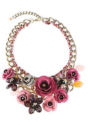 Klimm Trachten-Halskette mit farbigen Textilbändchen im Universal Online Shop