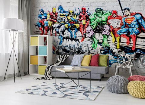 Fototapeta Marvel Avengers 3d Na Sciane 38178 Uwalls Pl Home Decor Decor Kids Rugs