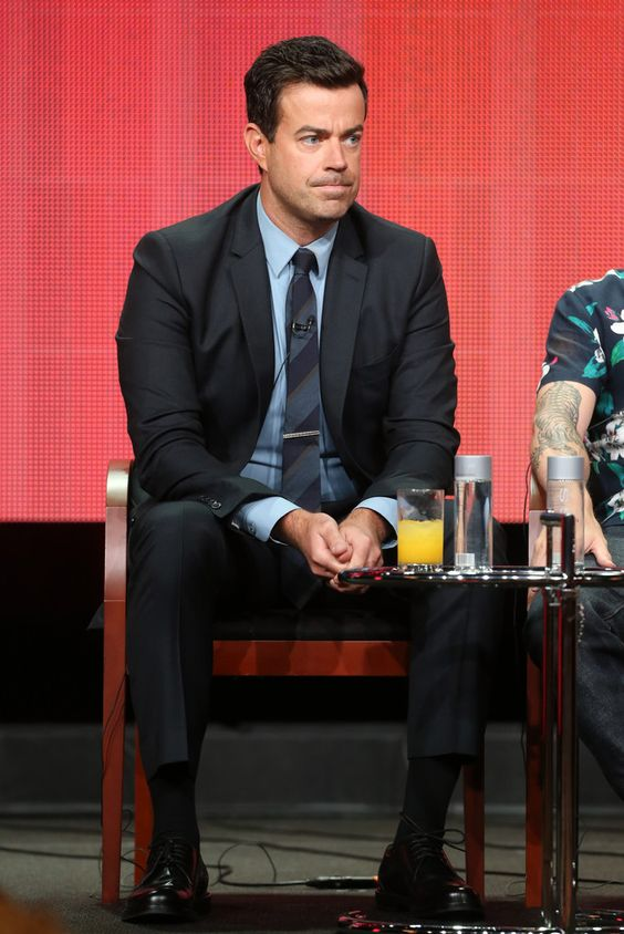 """Producer/Host Carson Daly speaks onstage during """"The Voice"""" panel discussion at the NBC portion of the 2013 Summer Television Critics Association tour - Day 4 at the Beverly Hilton Hotel on July 27, 2013 in Beverly Hills, California."""