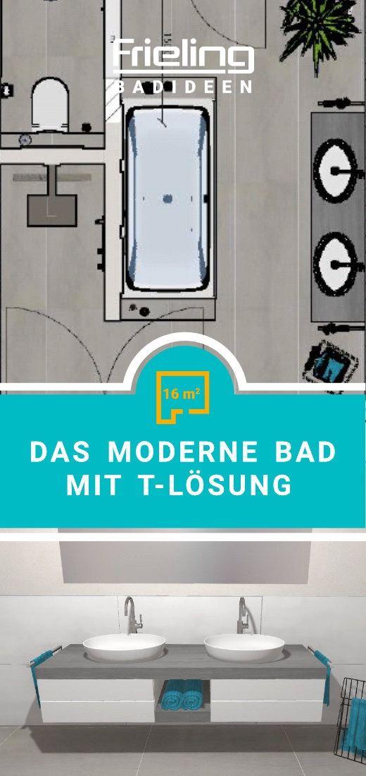 Das Badezimmer Mit T Losung 3d Planung Vogelperspektive Doppelwaschbecken Waschschalen In 2020 Badezimmer T Losung Walk In Dusche Bad