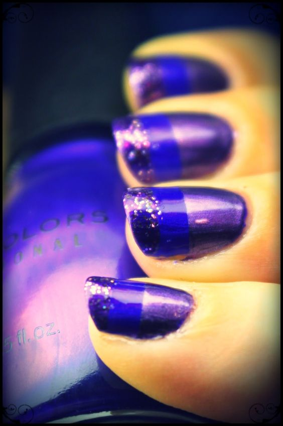 Tes Did It Nails: 31 Day Challenge : Day 6 : Violet Nails