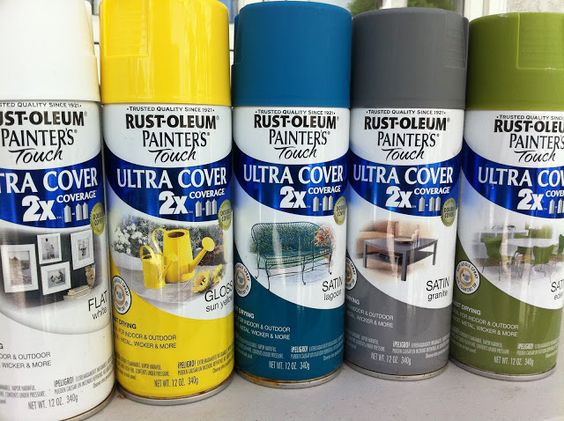This is my favorite spray paint. I've used it on everything from wicker, to metal, to glass, to wooden chairs and it sticks to everything.