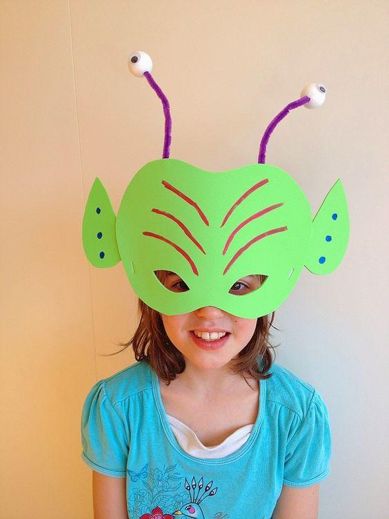 Masque extraterrestre alien mask extraterrestre - Masque de carnaval a fabriquer ...