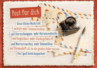 Post für dich - Postkarten - Grafik Werkstatt Bielefeld