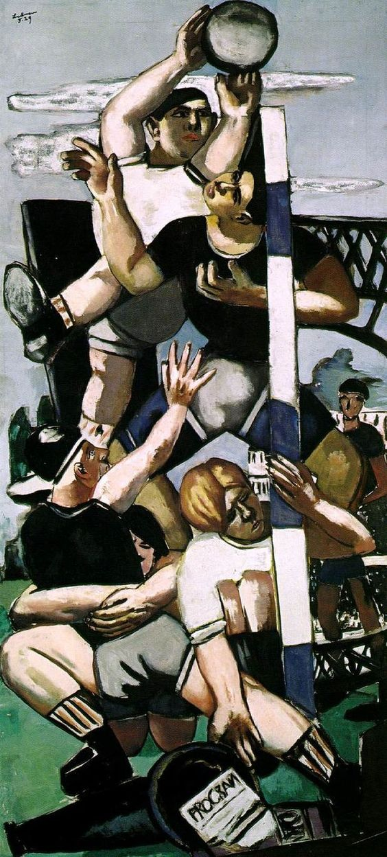 Max Beckmann - Rugbyspieler (1929)