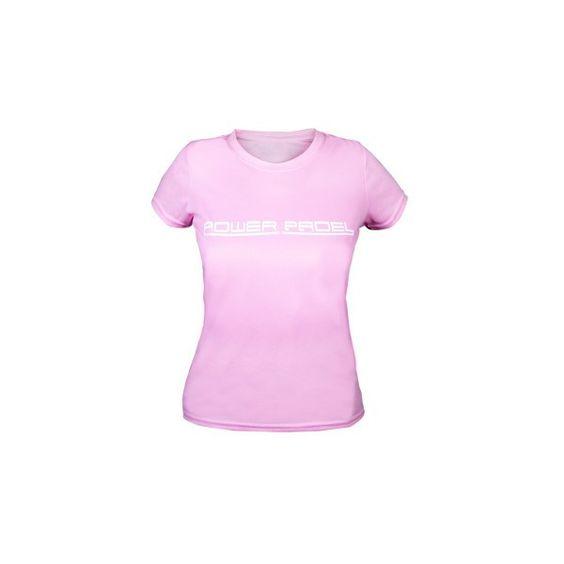 Camiseta técnica rosa claro Mujer para padel