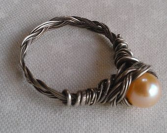 anillo de plata esterlina anillo de perlas de por Ioanaboutique