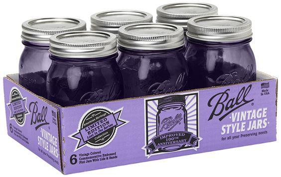 Ball Canning Jar 6/Pkg-Pint - Heritage Collection Purple: Amazon.fr: Cuisine & Maison