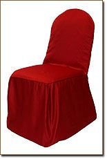 Red Lamour Chair Cover