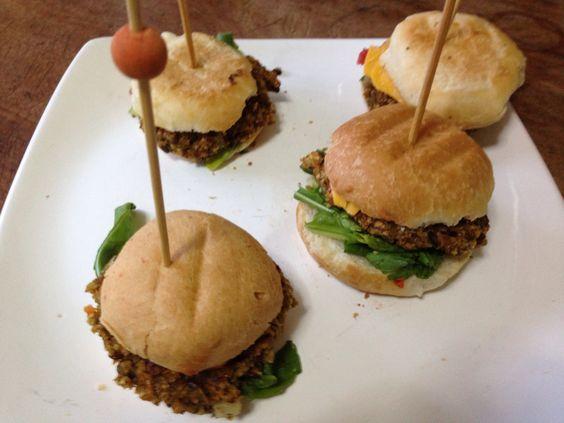 Mini hamburguesas vegetales