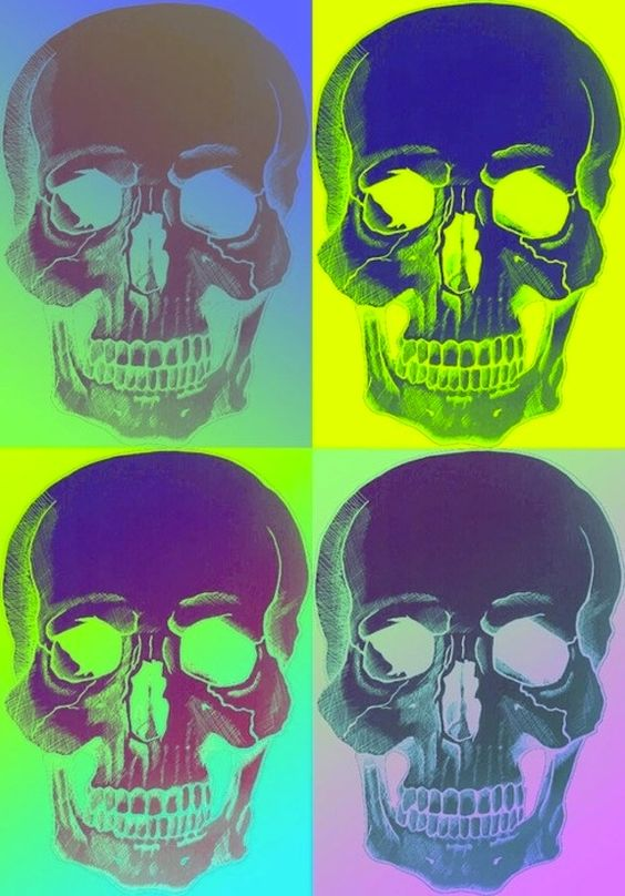 neon skulls