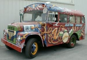 The Electric Mayhem Muppet bus