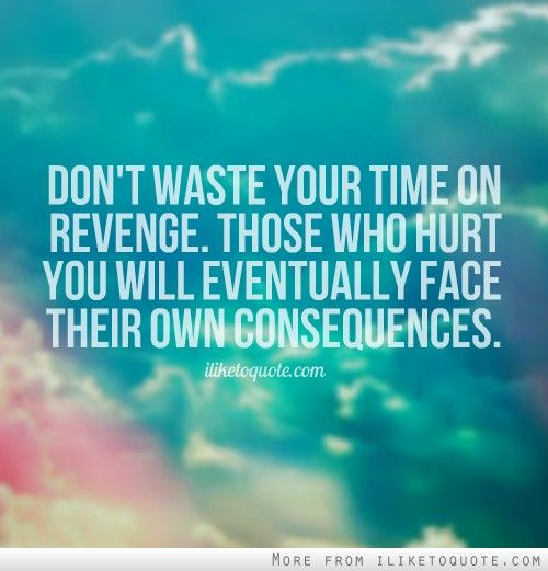 Bible Quotes Revenge: Don't Waste Your Time On Revenge. Those Who Hurt You Will