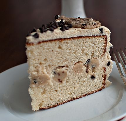 what?!! cookie dough cake!