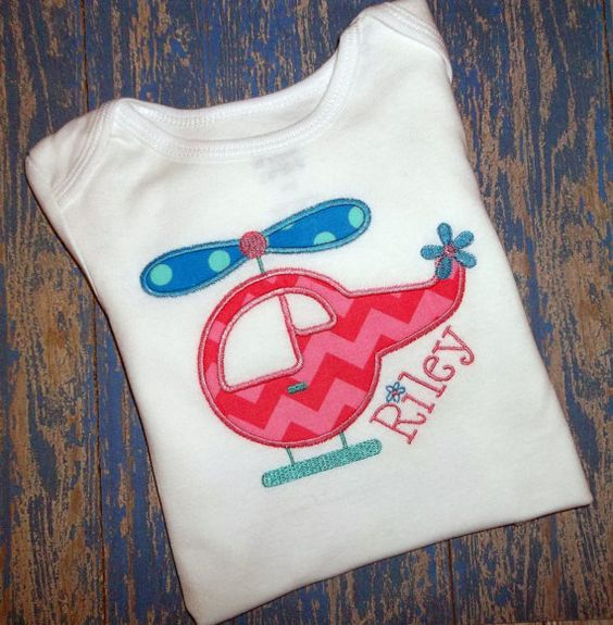 Helicopter Applique Monogrammed by BlumersEmbroidery, https://www.etsy.com/listing/175553146/helicopter-applique-monogrammed-girls