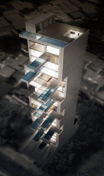 Peruvian skyscraper design - splish/splash :)  Auch bei Nacht bietet der Entwurf einen eindrucksvollen Anblick. Schade, dass...