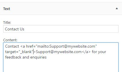 clickable email address