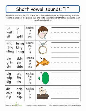 Worksheets Short And Long Vowel Worksheets For First Grade pinterest the worlds catalog of ideas first grade phonics handwriting worksheets short vowel sounds