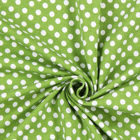 Jersey Dots Mila 3 - Bomuld - Elastan - grøn