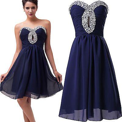 Summer Wedding Bridesmaid SEMI-FORMAL Evening Party Short Prom Dress plus SIZE