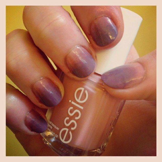 Ombre Nails. Pink And Purple.