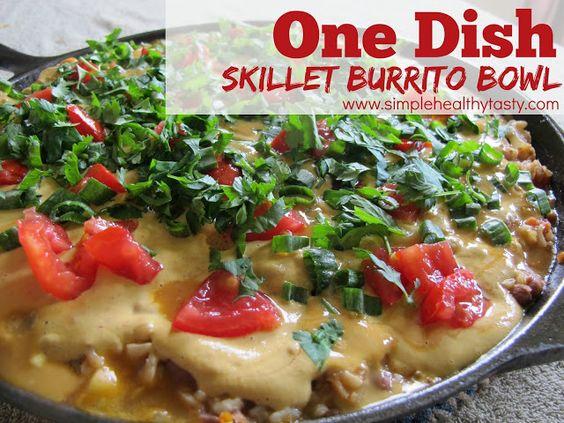One Dish Skillet Burrito Bowls