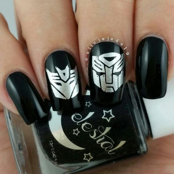 Polishes: Celestial Apocalypse and China Glaze I'd Melt For You Stamping: unknown