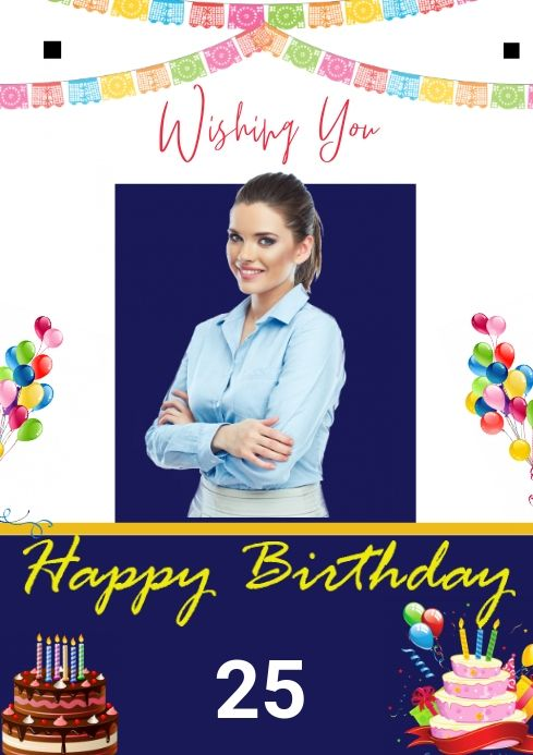 Birthday Birthday Wishes With Photo Happy Birthday Template Birthday Template