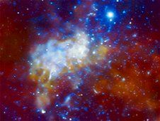 Supermassive black hole Sagittarius A* at the center of the Milky Way.