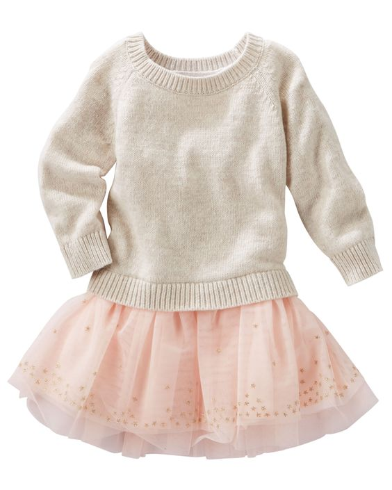 White Sweater Dress For Baby Girl 35