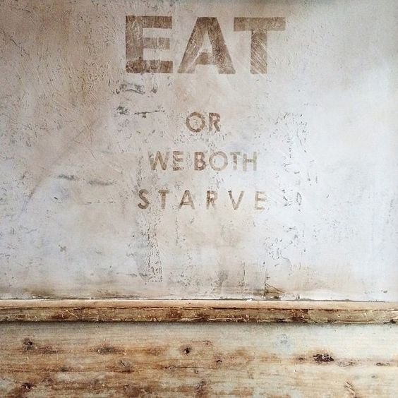 Eat or we both starve. #Typography #Art #Truth #Creative #Design #Food