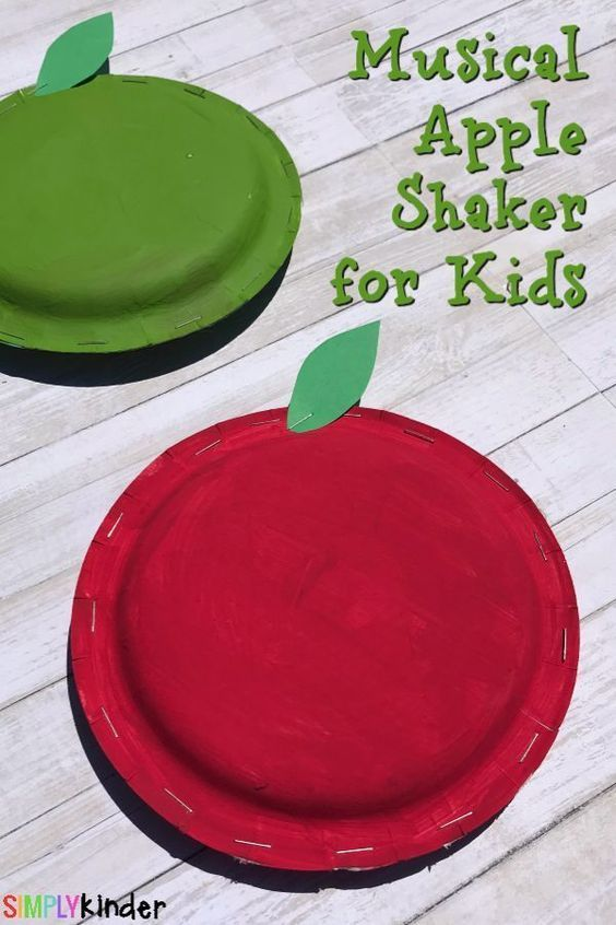 Apple Art Musical Shakers For Kids Crafts Preschool Apple Theme