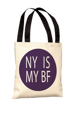 NY Is My BF Tote Bag