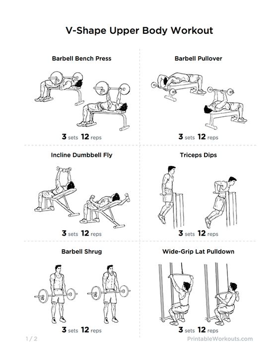 V-Shape Upper Body Workout Plan for Chest, Shoulders ...