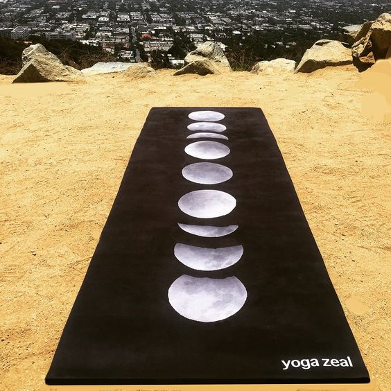 Moon Phases Yoga Mat