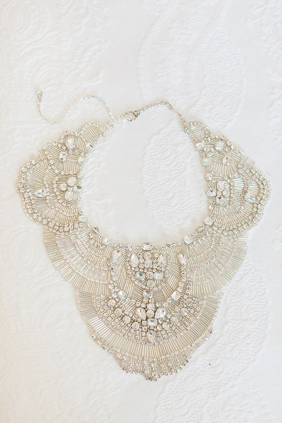 statement bridal necklace