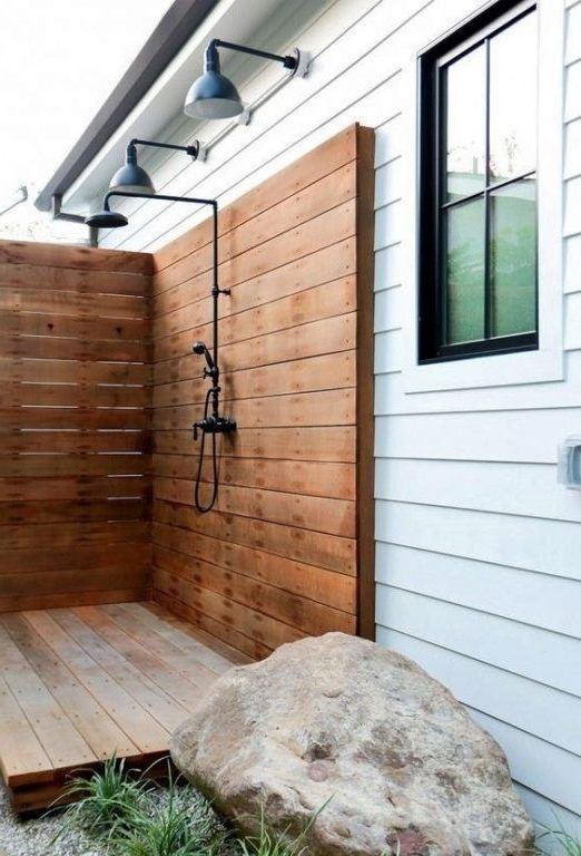 Amazing Outdoor Bathroom Shower Ideas You Can Try In Your Home Decor Around The World In 2020 Outdoor Bathrooms Outdoor Shower Outdoor Shower Enclosure