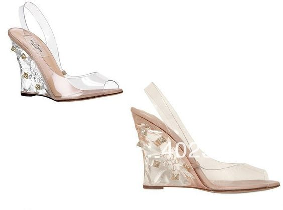 Off of, Clear high heels and Valentino on Pinterest